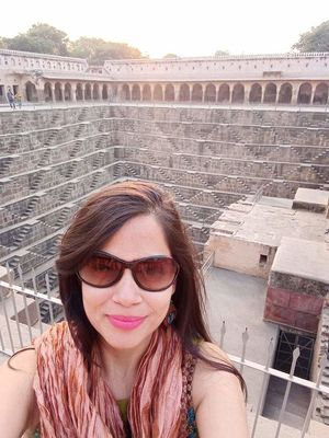 Chand Baori consists of 3,500 narrow steps & 13 stories one of the deepest &largest stepwells India