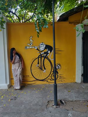 Explored white town in Pondicherry by walking