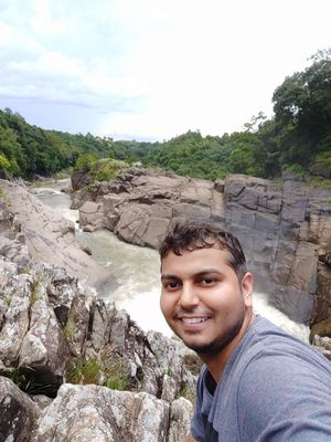 One of the best waterfall experiences ever #Waterfalls #meghalaya #SelfieWithAView #TripotoCommunity