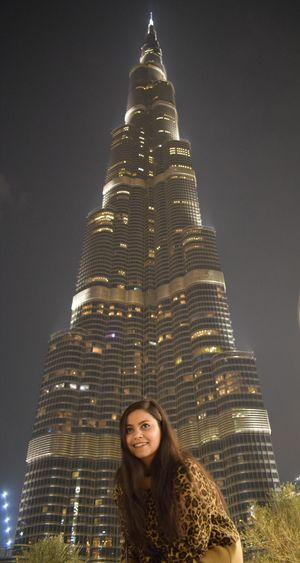 Burj Khalifa! A wonderful tall building, architecture at its best #SelfieWithAView #TripotoCommunity