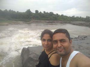 Receiving energy through waterfall #salfiewithaview #tripoto.com