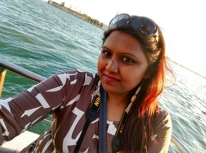 #selfiewithaview #tripotocommunity .. golden glow of sunset ride in the Adriatic sea Venice..