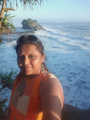#selfiewithaview #tripotocommunity ... Enchanting view of Tanah Lot temple
