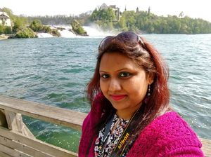 #selfiewithaview #tripotocommunity  ... Rhine falls... Niagara of Europe