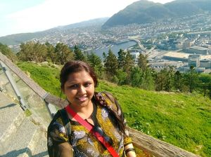 #selfiewithaview #tripotocommunity  ... top view .. funicular view of Bergen