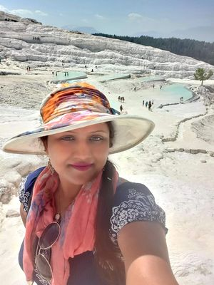 #selfiewithaview #tripotocommunity  ...  Cotton Castle ... white Travertine terrace thermal pools