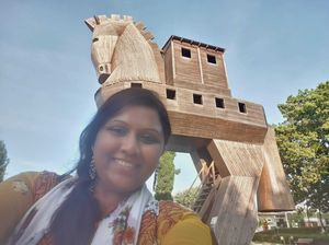 #selfiewithaview #tripotocommunity  ... Ancient city of Troy... Replica of the Trojan horse