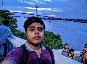 The famous Rabindra Setu/Hoogly Bridge from Prinsep Ghat. #SelfieWithAView #TripotoCommunity