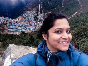 That smile reflects the joy of seeing the view behind... #SelfieWithAView #TripotoCommunity