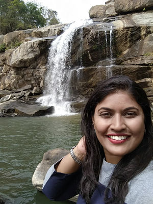 Always a bliss to be with falling water #SelfieWithAView #TripotoCommunity