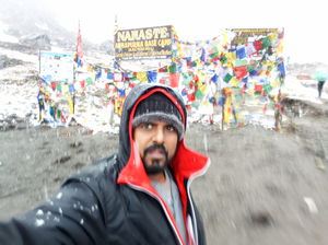 SELFIE IN THE BASE OF WORLD 10th Highest peak of the world.
