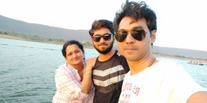 Selfie with lovely son & hubby   #SelfieWithAView #TripotoCommunity