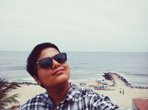 My Resting Beach Face  :) #SelfieWithAView #TripotoCommunity