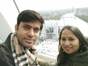 Beautiful view of London city#view from london eye #SelfieWithAView #TripotoCommunity