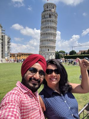 The leaning tower.. #TripotoCommunity #SelfieWithAView