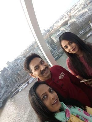 I take this selfie on my dream trip for LONDON from LONDON EYE.... View whole London and THAMES Rive
