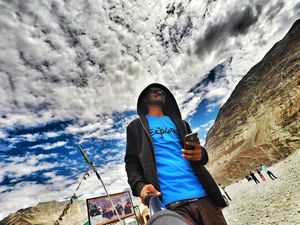 Me and Nubra Valley.  #SelfieWithAView #TripotoCommunity