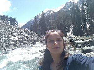 Fresh free flowing Glacial water coupled with snow clad Pines #SelfieWithAView #TripotoCommunity