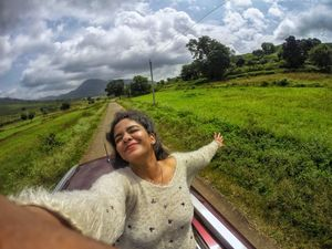 The best feeling is to feel alive in this surreal beauty #SelfieWithAView #TripotoCommunity