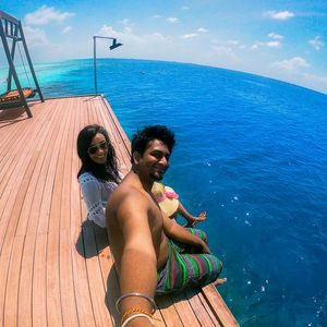 #SelfieWithAView #TripotoCommunity Maldives:The most beautiful part of the earth!