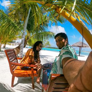#TripotoCommunity #SelfieWithAView  That turquoise serene beauty of Maldives!