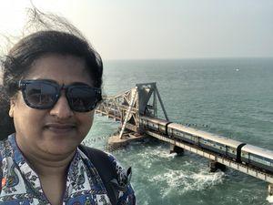 #Pamban Bridge#India's Oldest and Dangerous Railway#Rameshwaram  #SelfieWithAView #TripotoCommunity