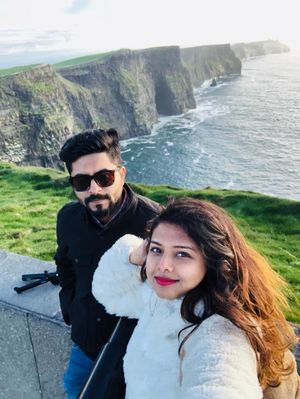 Selfie with an incredible view of Cliff of Moher #SelfieWithAView #TripotoCommunity