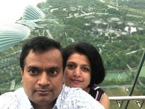 "#SelfieWithAView  #TripotoCommunity "" With My Bae in Marina Bay????????"""