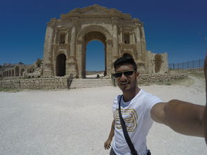 #SelfieWithAView at Hadrian's Arch in Jerash, Jordan!  #TripotoCommunity this place is fab!