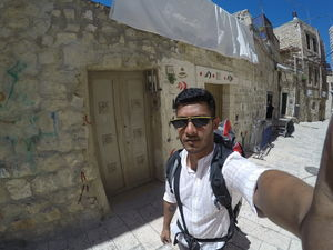 #SelfieWithAView backpacking the Muslim quarter in Jerusalem #TripotoCommunity