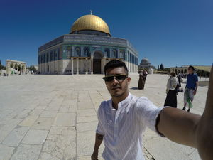 #SelfieWithAView in the holy land of Jerusalem #TripotoCommunity