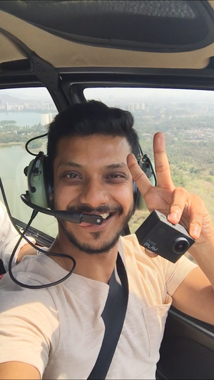 #SelfieWithAView the best view of Mumbaj is from the sky.. did a chopper ride  #TripotoCommunity
