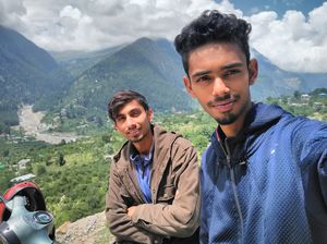 Its our scooter which reached the heights. #SelfieWithAView #TripotoCommunity