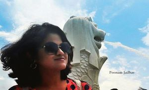 When the Lioness met the Merlion...!! #SelfieWithAView #TripotoCommunity