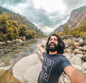 Selfie after fishing in Tirthan river . #SelfieWithAView and #TripotoCommunity