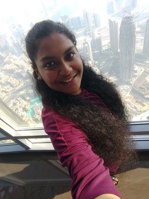Standing above the Dubai skyline #SelfieWithAView #TripotoCommunity