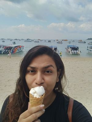 Ice cream on the beautiful PhiPhi Island #Thailand #SelfieWithAView #Tripotocommunity