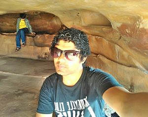 Loved to get my self here in the caves of Khandgir #Selfie With A View #Tripto Community