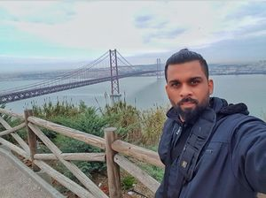 25th April Bridge and a view of Lisbon #SelfieWithAView #TripotoCommunity