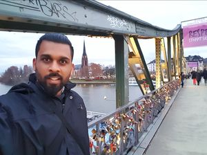 Love lock bridge in Germany #SelfieWithAView #TripotoCommunity