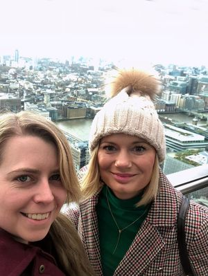 Winter in London with my bestie enjoying the view from the beautiful sky garden