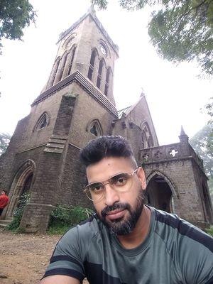 A selfie with the iconic landmark Christ Church Kasauli #SelfieWithAView #TripotoCommunity