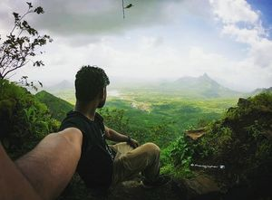 Wait let me show you the real world⛰️???? #SelfiewithAView and #TripotoCommunity
