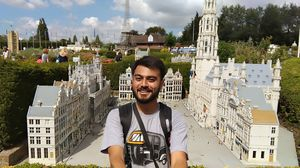Rikshaw leke Europe tak chale gaye  :D #MiniEurope #SelfieWithAView #TripotoCommunity