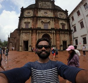 Magical old goa church...