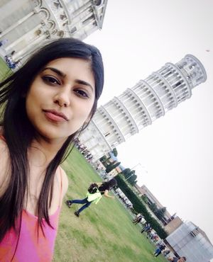Leaning myself for a selfie with a Leaning Tower of Pisa! #SelfieWithAView #TripotoCommunity