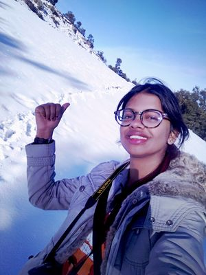 How glorious a greeting snowfalls gives the mountains! #SelfieWithAView #TripotoCommunity