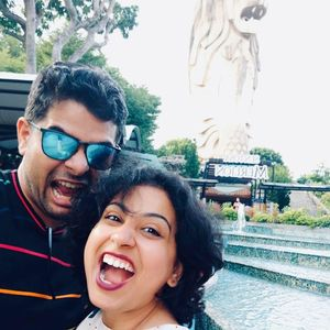 Singaporeon Merlion and 2 Indian Ones