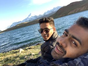 """""""Time wasted at the lake is time well spent"""" #SelfieWithAView #TripotoCommunity"""
