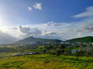 Views from talegaon on mumbai-pune highway